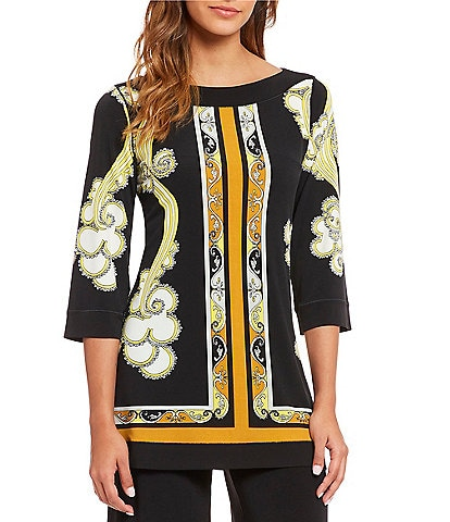 Eva Varro Easy Boat Neck Framed Tunic