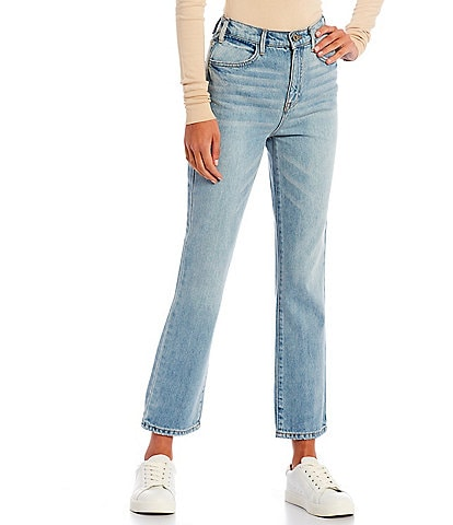 Every Ankle Crop Front Zipper Straight Leg Jeans