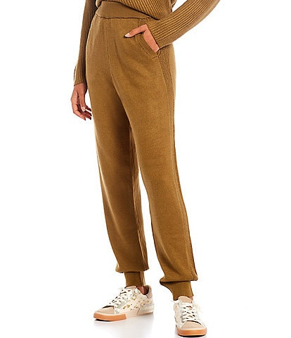 Every Elastic Waist Pull-On High Rise Sweater Joggers