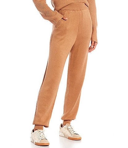 Every Elastic Waist Pull-On High-Rise Sweater Joggers