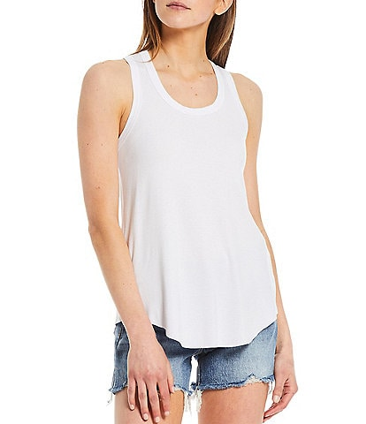 Every Scoop Neck Ribbed Tank