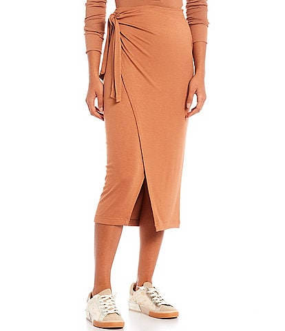 Every Wrap High-Rise Pull-On Midi Skirt