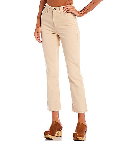 Every Straight Leg Ankle Crop Front Zipper Jeans