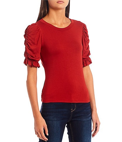 Evolutionary Cinched Short Sleeve Top