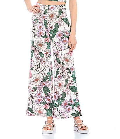 Evolutionary Coordinating High Waist Floral Print Pants