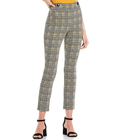 Evolutionary Coordinating Menswear Plaid Print Double Knit Pants