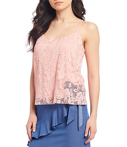 Evolutionary Floral Lace Tank Top