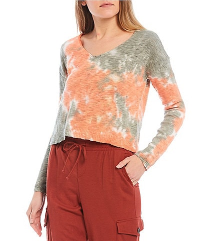 Evolutionary Tie-Dye Knit Top