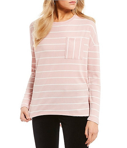 Eyeshadow Stripe Long Sleeve Pocket Tee