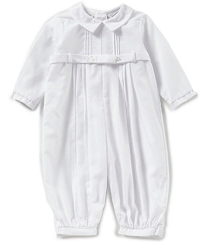 Feltman Brothers Baby Boys 3-9 Months Pleated Dot Coverall