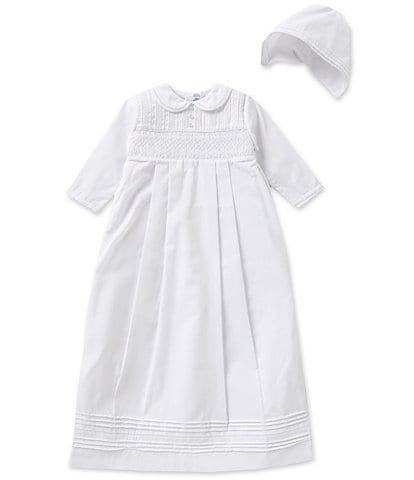 Feltman Brothers Baby Boys Newborn-12 Months Christening Long-Sleeve Gown And Hat Set