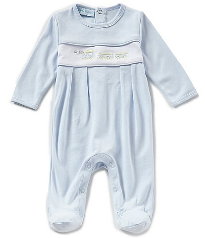 Feltman Brothers Baby Boys Newborn-9 Months Train Embroidered Coverall