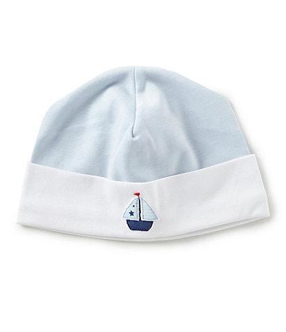 f0f3f22811e Feltman Brothers Baby Boys Newborn Sailboat Embroidered Hat