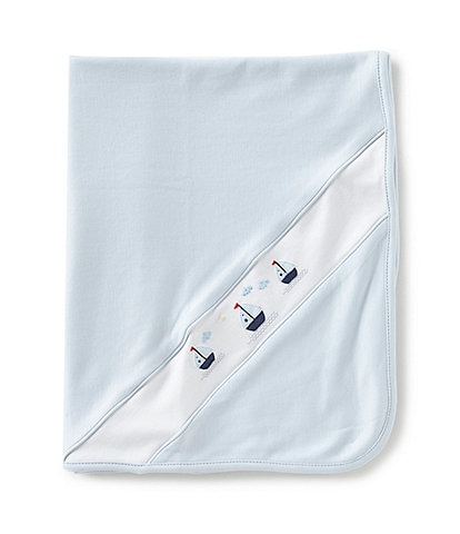 Feltman Brothers Baby Boys Sailboat Embroidered Blanket