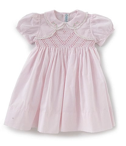 Feltman Brothers Baby Girl 12-24 Months Flower Embroidered Bolero Dress