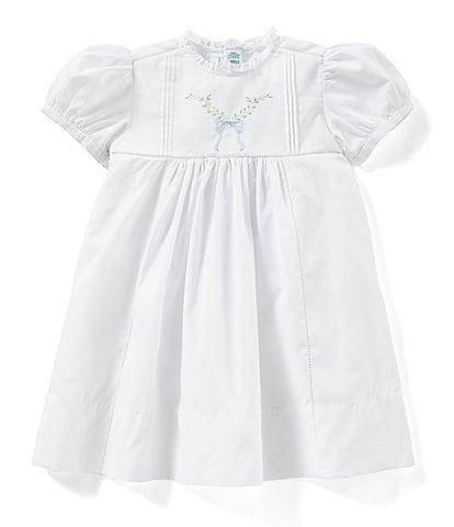 e74f22f80914 Feltman Brothers Baby Girl 12-24 Months Leaf Bow Dress