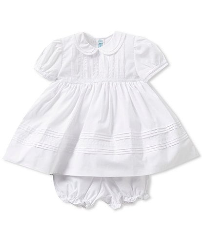 Feltman Brothers Baby Girls 3-9 Months Pintuck and Lace Dress
