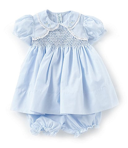 Feltman Brothers Baby Girls 3-9 Months Flower Embroidered Bolero Dress