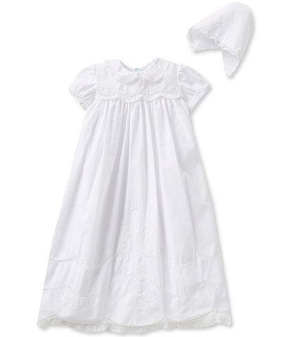 Feltman Brothers Baby Girls Newborn-12 Months Scalloped Yoke Christening Gown