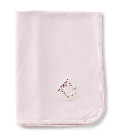 Feltman Brothers Baby Girls Newborn Floral Wreath Embroidered Blankets