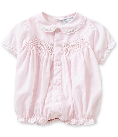 Friedknit Creations Baby Girls Preemie Smocked Bubble