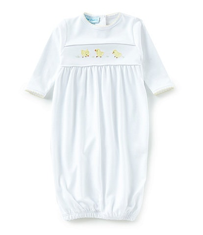 Feltman Brothers Baby Newborn Chick Embroidered Gown