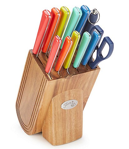 Fiesta 13-Piece Merengue Multicolor Knife Block Set