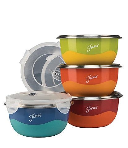 Fiesta 8-Piece Prep Bowl & Lid Set