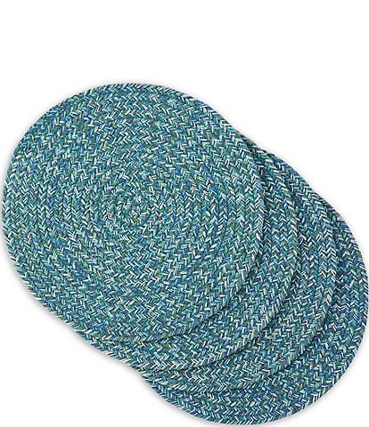 Fiesta Braided Cool Round Placemats, Set of 4