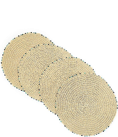 Fiesta Cabo Bead Natural Placemat, Set of 4
