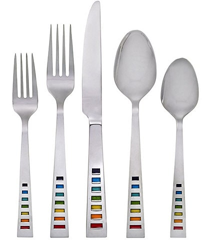Fiesta Celebration Rainbow 20-Piece Stainless Steel Flatware Set