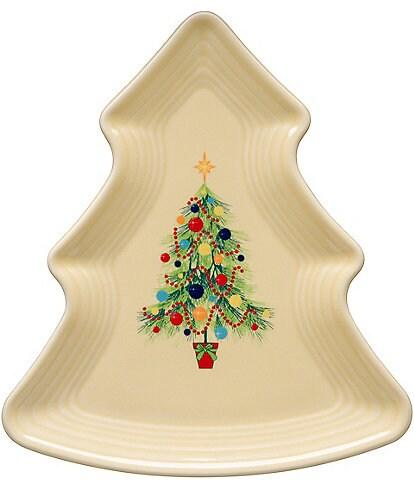 Fiesta Christmas Ceramic Tree Plate