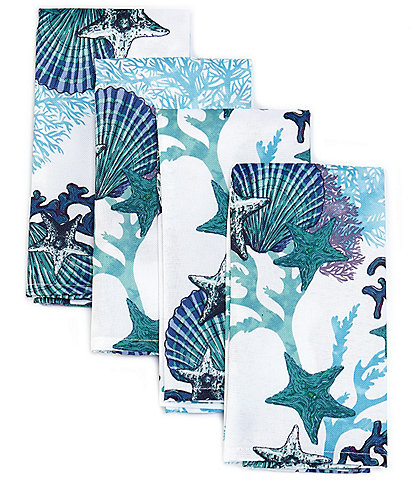 Fiesta Coastal Coral Napkins, Set of 4