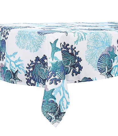 Fiesta Coastal Coral Tablecloth
