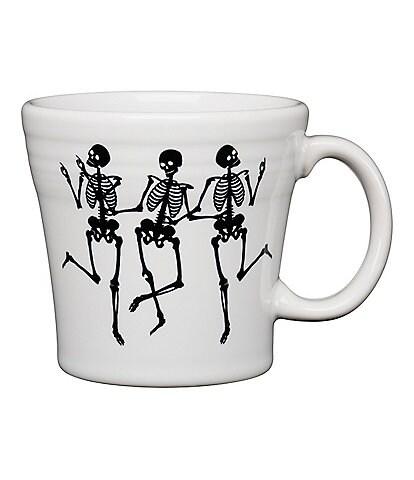 Fiesta Halloween Collection Dancing Trio Of Skeletons Tapered Mug