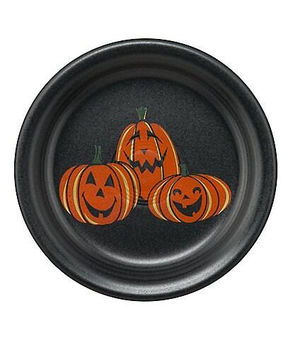 Fiesta Halloween Collection Trio Of Happy Pumpkins 6.5#double; Appetizer Plate