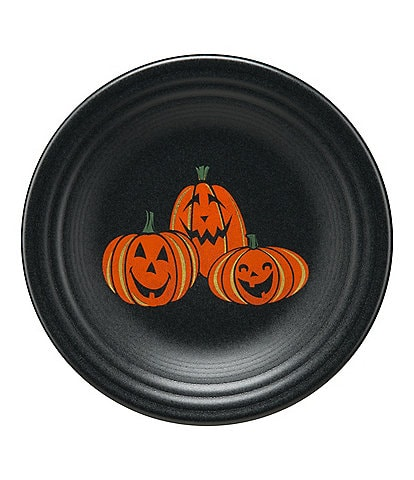 Fiesta Halloween Collection Trio Of Happy Pumpkins 9#double; Luncheon Plate