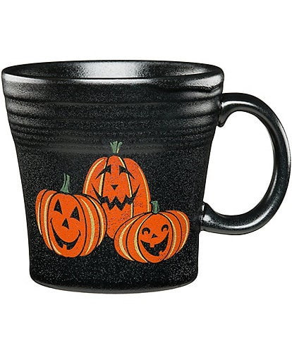 Fiesta Halloween Collection Trio Of Happy Pumpkins Tapered Mug