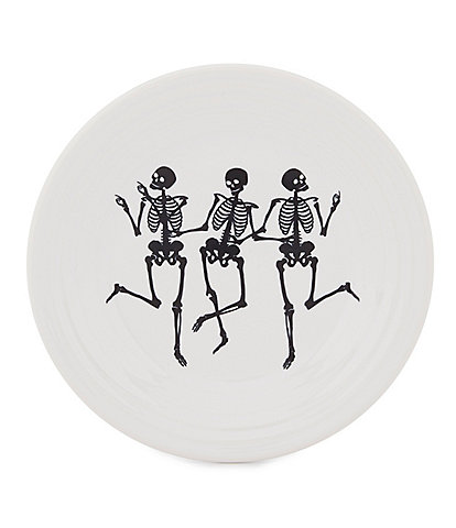 Fiesta Halloween Collection Trio of Skeletons 9#double; Luncheon Plate