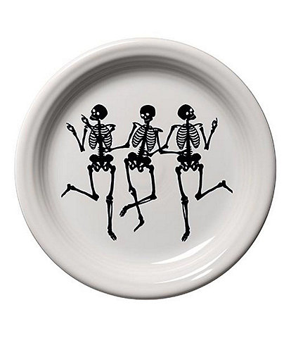 Fiesta Halloween Trio Of Skeletons Appetizer Plate