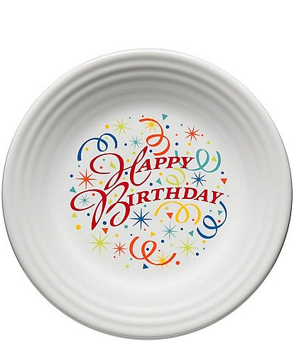 Fiesta Happy Birthday 9#double; Luncheon Plate