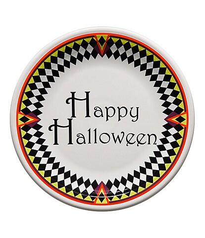 Fiesta Harlequin Happy Halloween Chop Plate