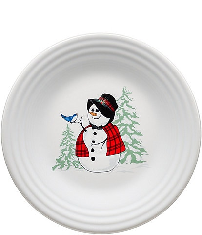 Fiesta Holiday Snowlady 9#double; Luncheon Plate