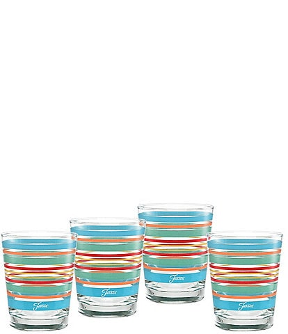Fiesta Rainbow Radiance Stripe Double Old-fashion Glasses, Set of 4