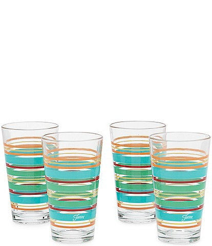 Fiesta Rainbow Radiance Stripe Highball Glasses, Set of 4