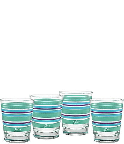 Fiesta Sienna Sunset Stripe Double Old-Fashion Glasses, Set of 4