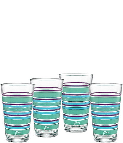 Fiesta Sienna Sunset Stripe Highball Glasses, Set of 4