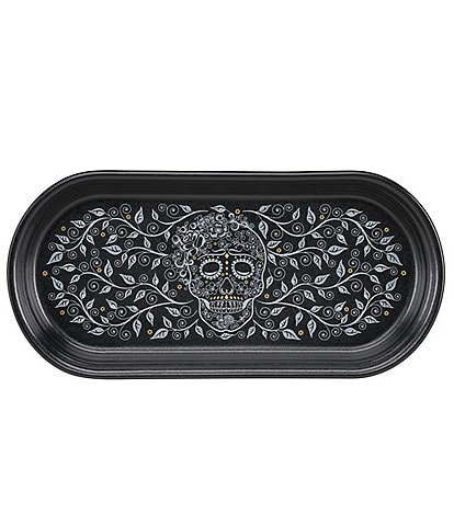 Fiesta Skull & Vine Black Bread Tray