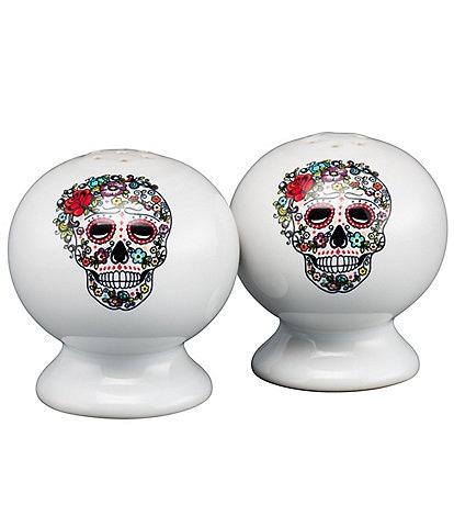 Fiesta Skull & Vine Sugar Salt & Pepper Set
