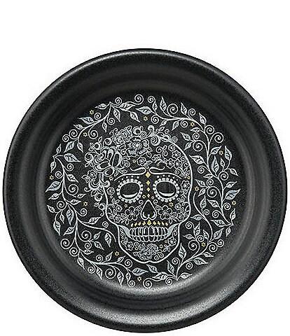 Fiesta Skull And Vine Black Appetizer Plate
